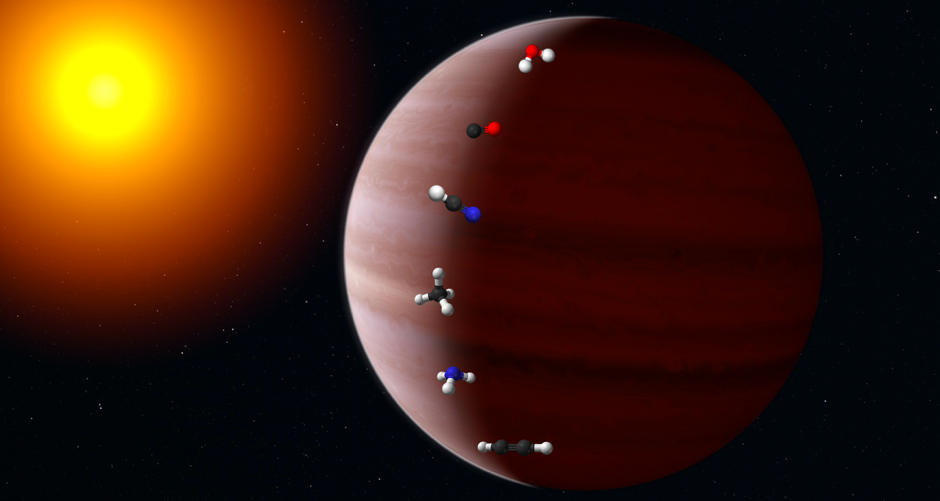 Artistic impression of a exoplanet