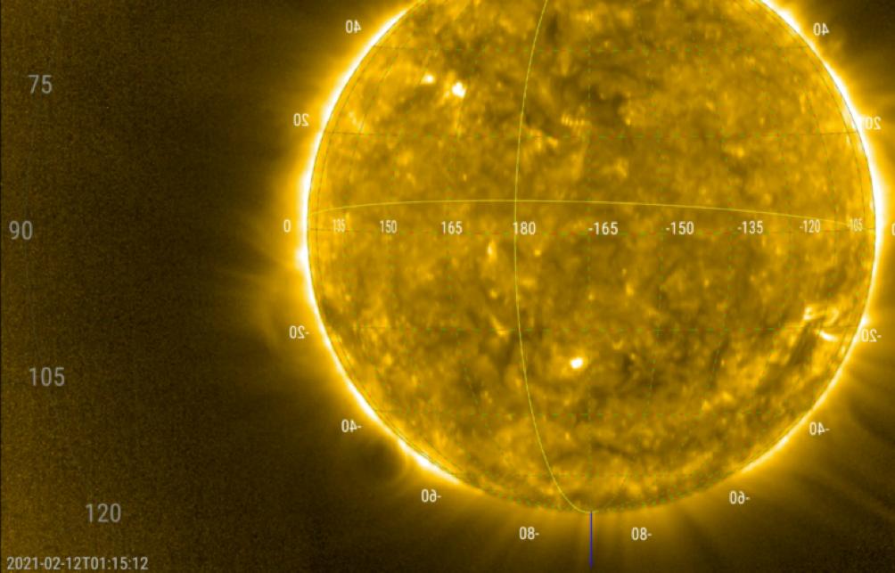 Prima espulsione di massa coronale ripresa da EUI di Solar Orbiter